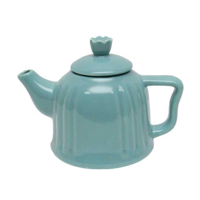 Ceainic Din Ceramica Turcoaz 13 Cm