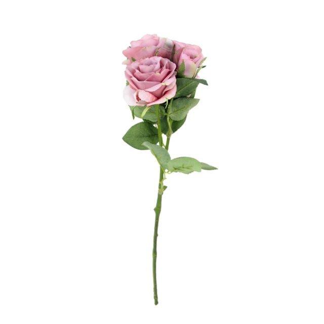 Floare Artificiala Trandafir Roz 55 Cm