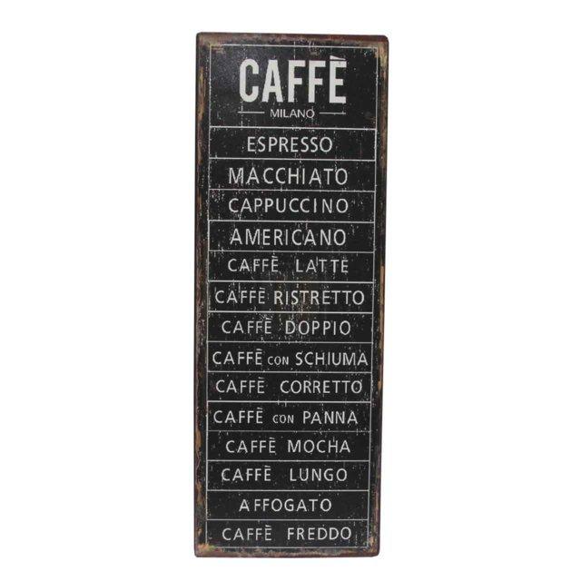 Placheta Decorativa Din Metal Negru Cu Cafea 36 Cm