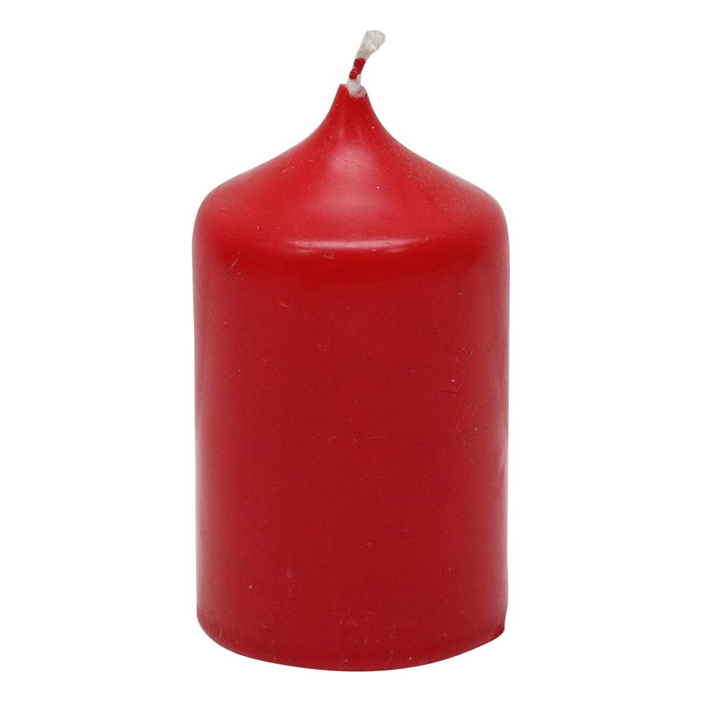 Lumanare Cilindrica Rosie 10 Cm