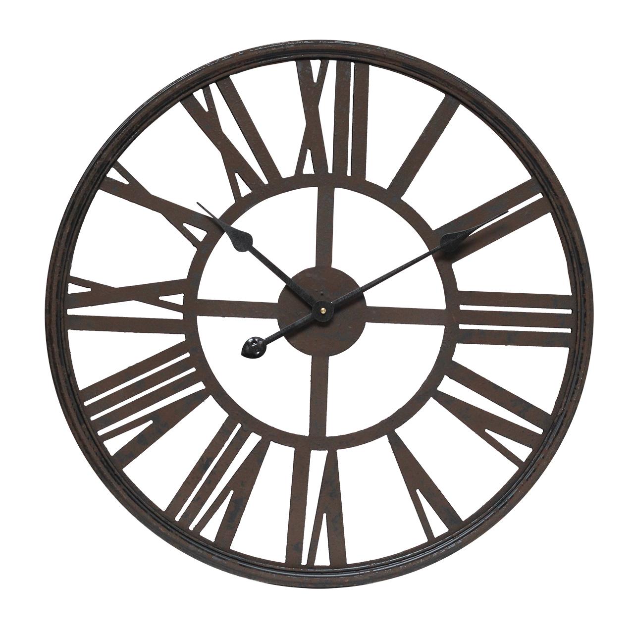 Ceas De Perete Din Metal Maro 60 Cm