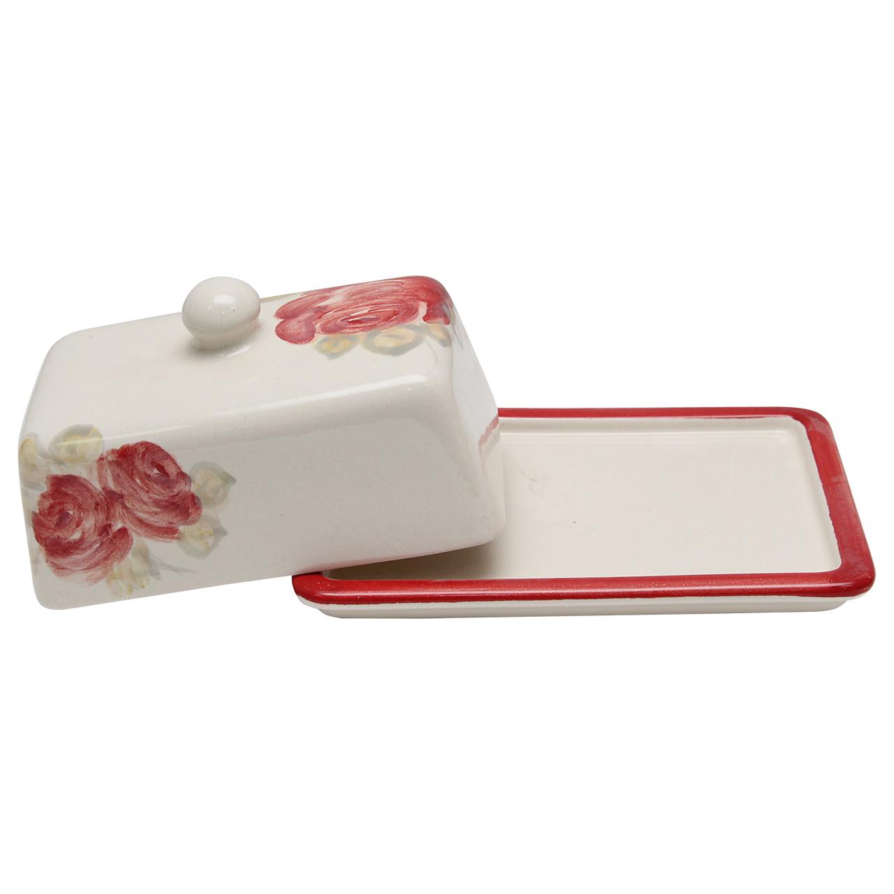 Untiera Din Ceramica Alba Cu Trandafiri