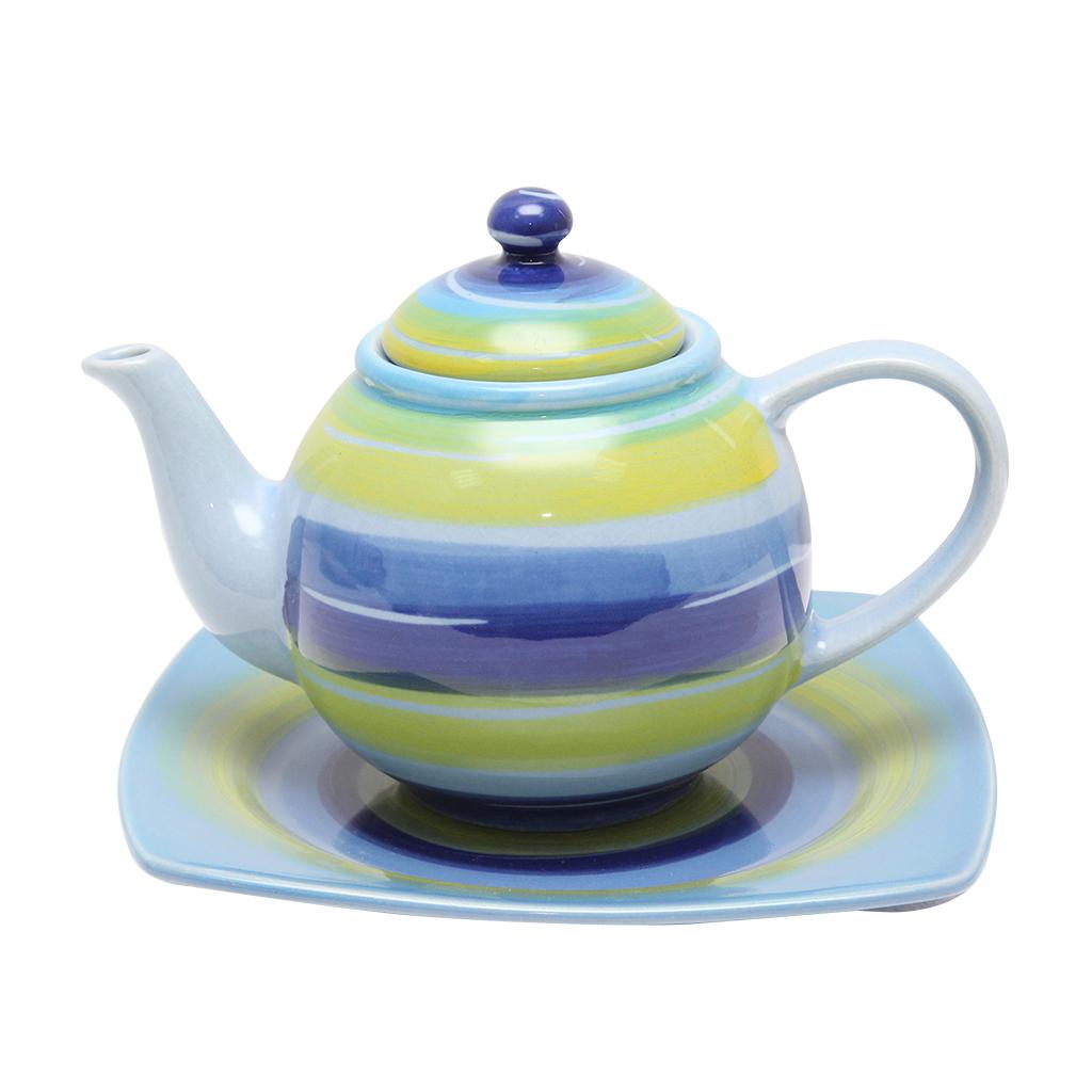 Ceainic Cu Farfurie Multicolor