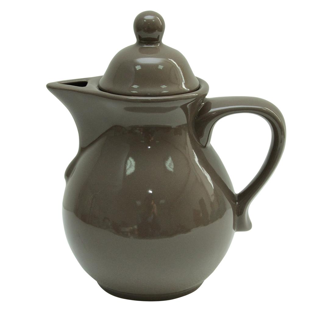 Ceainic Din Ceramica Taupe 22 Cm