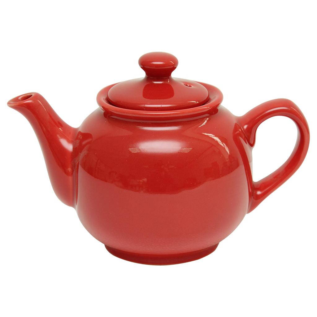 Ceainic Cu Capac Din Ceramica Rosie 0.6 Litri