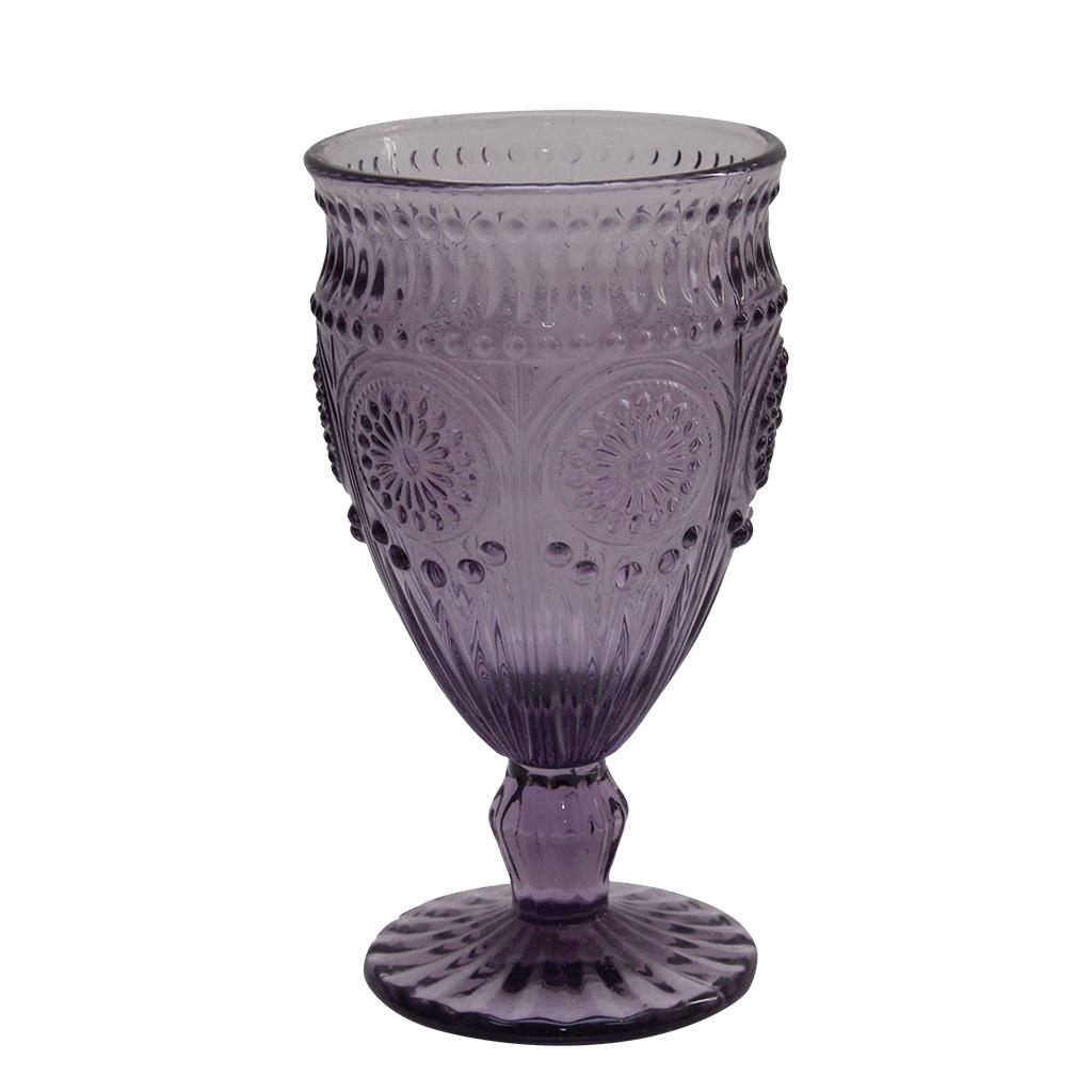 Pahar Din Sticla Mov 16 Cm