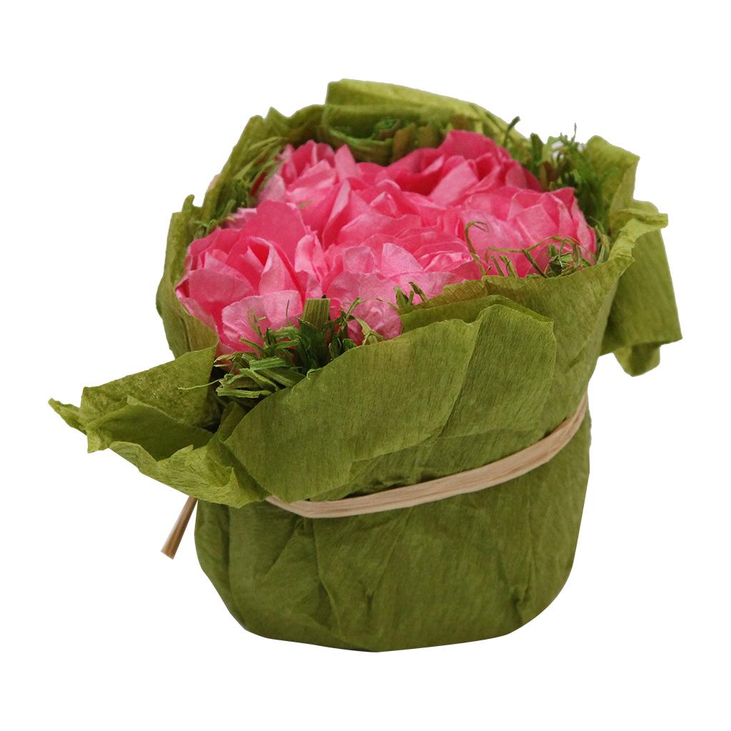 Floare Artificiala Buchet Din Hartie Roz 8 Cm