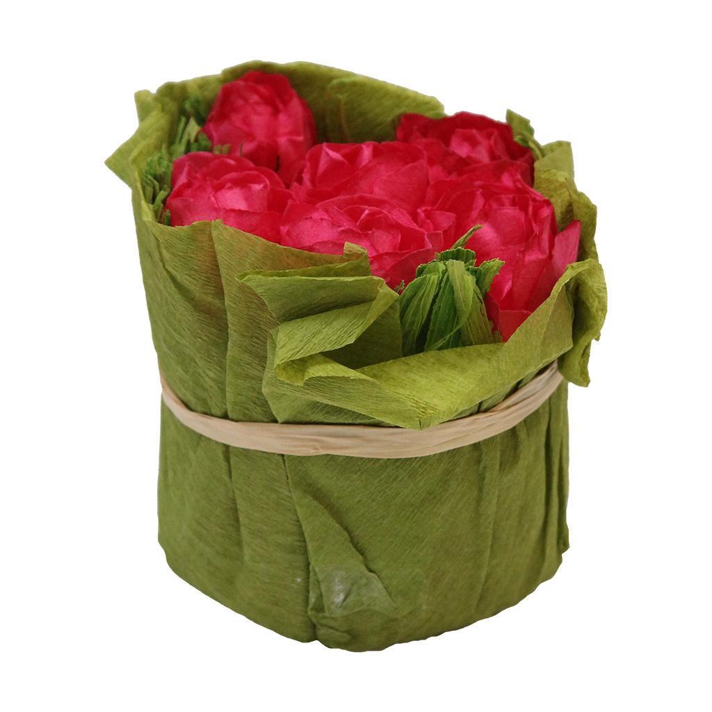 Floare Artificiala Buchet Din Hartie Fucsia 8 Cm