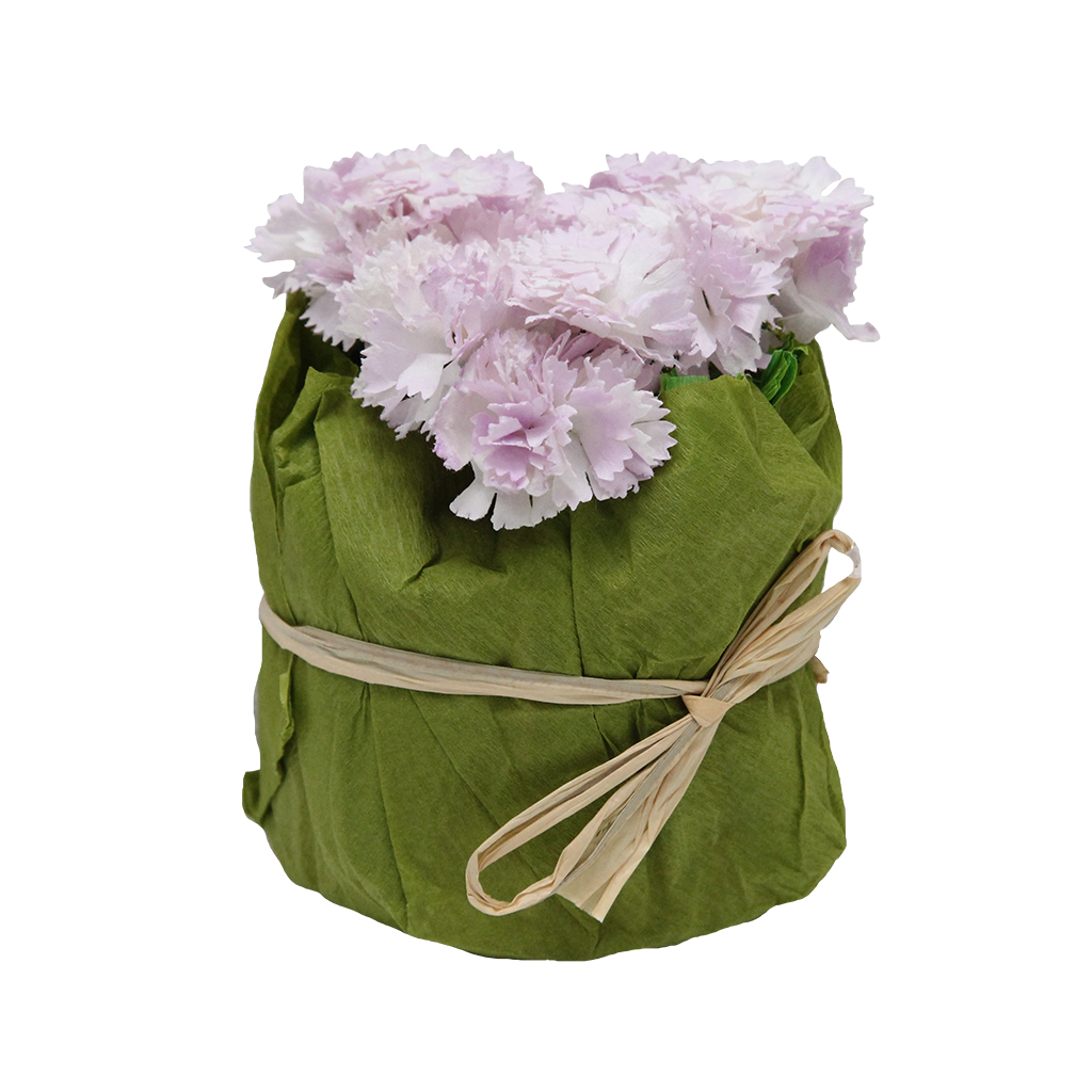 Floare Artificiala Buchet De Flori Din Hartie Roz 10 Cm