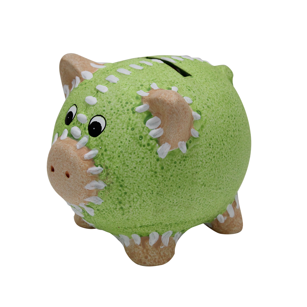 Pusculita Purcelus Din Ceramica Verde