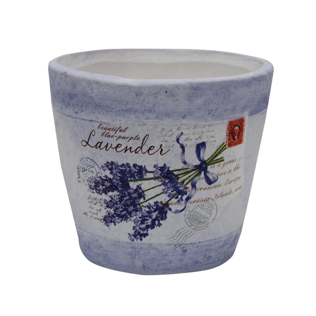 Ghiveci Din Ceramica Cu Lavanda 12.5 Cm
