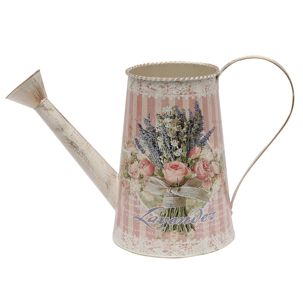Stropitoare Din Metal Roz Cu Flori 25 Cm