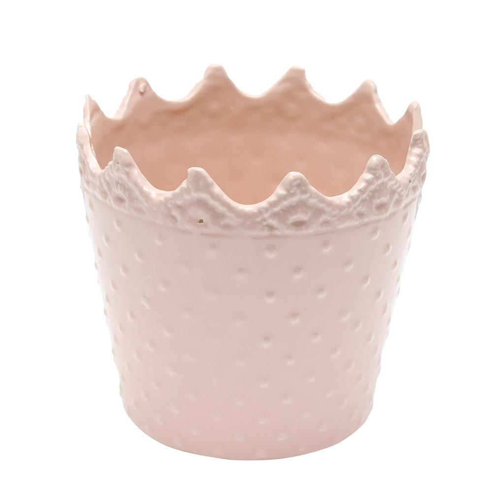 Ghiveci Din Ceramica Roz 14 Cm
