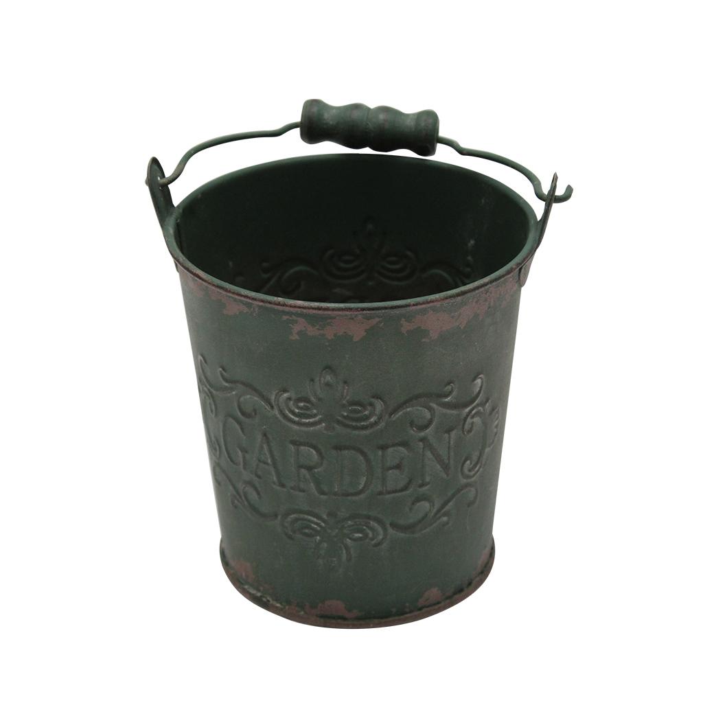 Jardiniera Din Metal Verde 12 Cm