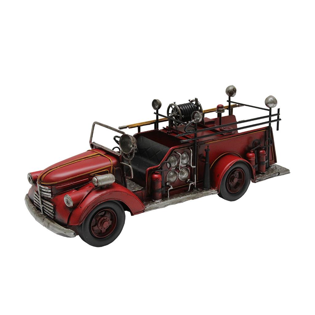 Macheta Masina De Pompieri Din Metal Rosu