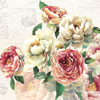 Servetele Decorative Din Hartie Cu Flori 33 Cm
