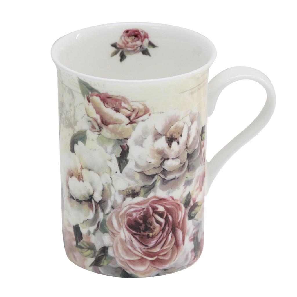 Cana Din Ceramica Cu Flori 10 Cm