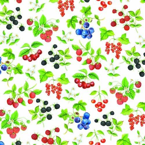 Servetele Decorative Din Hartie Cu Fructe De Padur