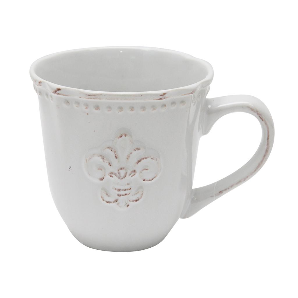 Cana Din Ceramica Alba 9 Cm