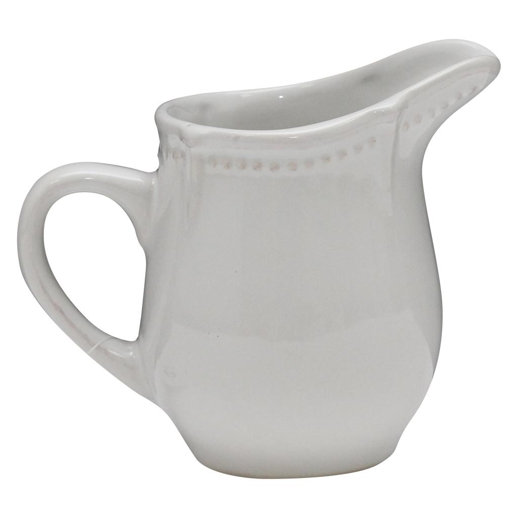 Cana Pentru Lapte Din Ceramica Alba 12 Cm