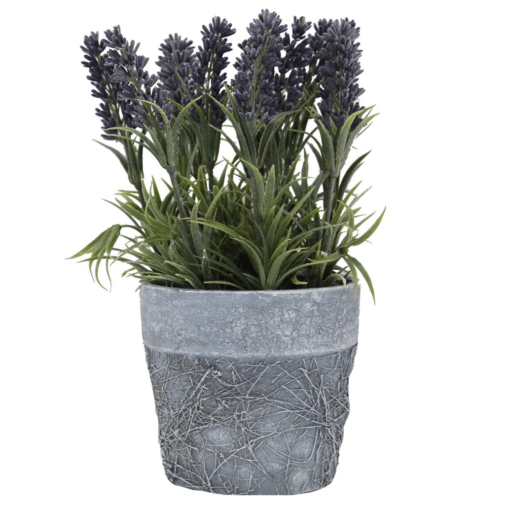 Floare Artificiala Lavanda In Ghiveci 23 Cm