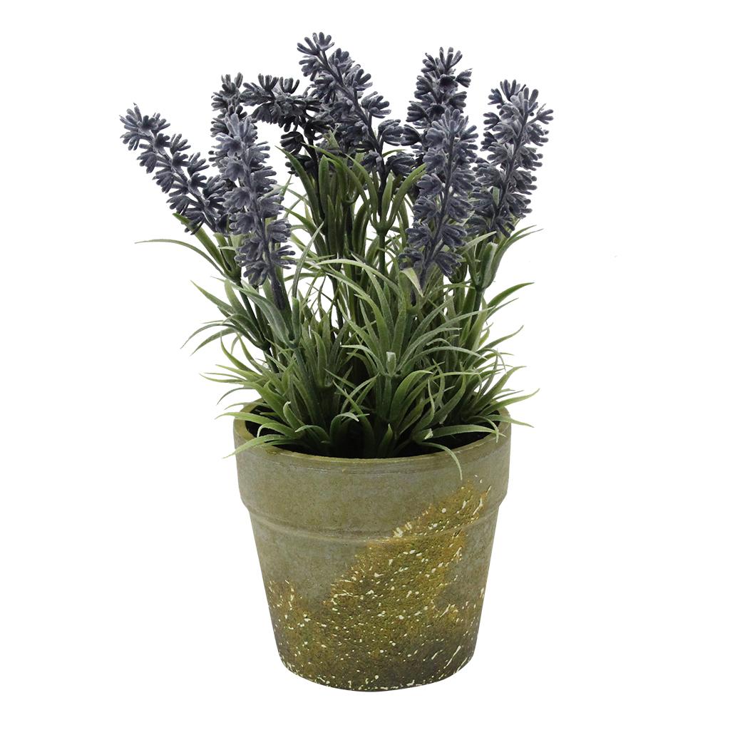 Floare Artificiala Lavanda In Ghiveci Verde 25 Cm