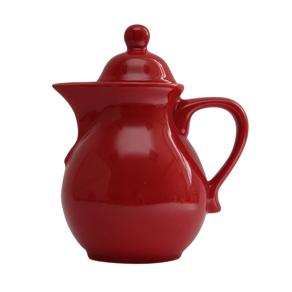Ceainic Din Ceramica Rosie 22 Cm