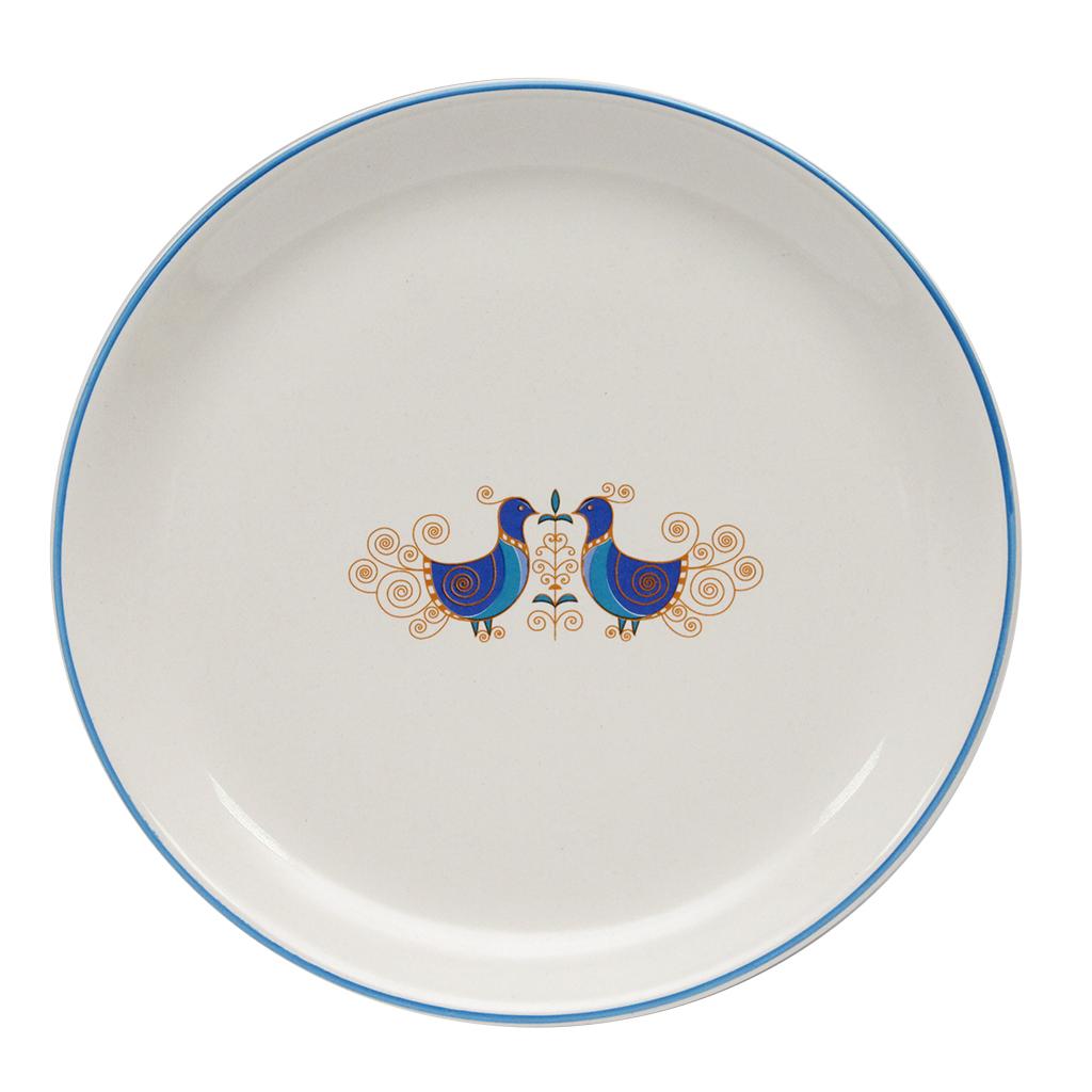 Farfurie Intinsa Din Ceramica Alba Cu Pauni 25 Cm