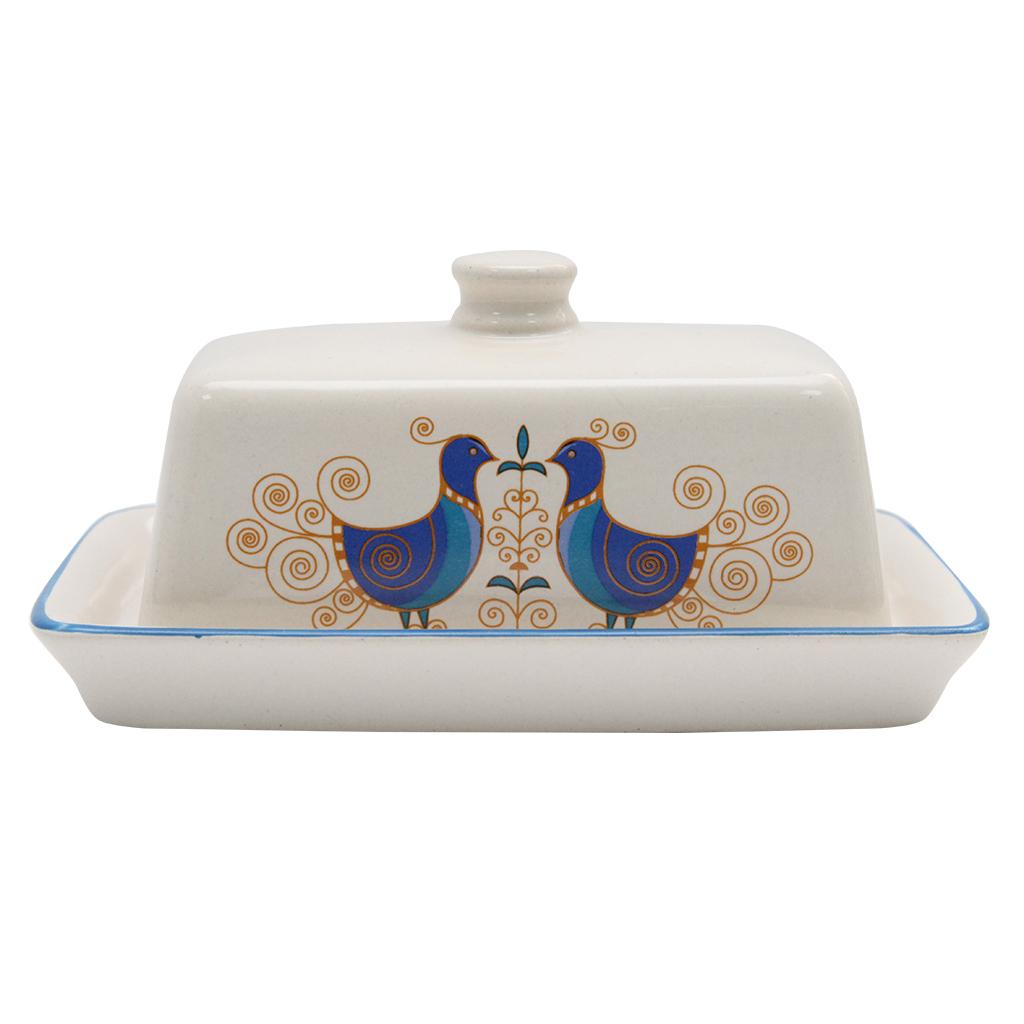 Untiera Din Ceramica Alba Cu Pauni