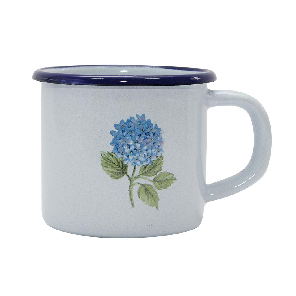 Cana Din Metal Albastru Cu Floare 10 Cm