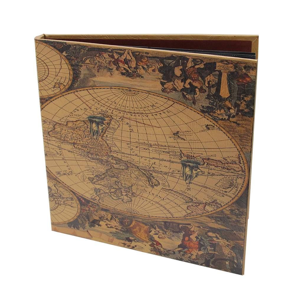 Album Foto Din Carton Si Plastic Maro Mapamond 35.4x34x4.5 Cm