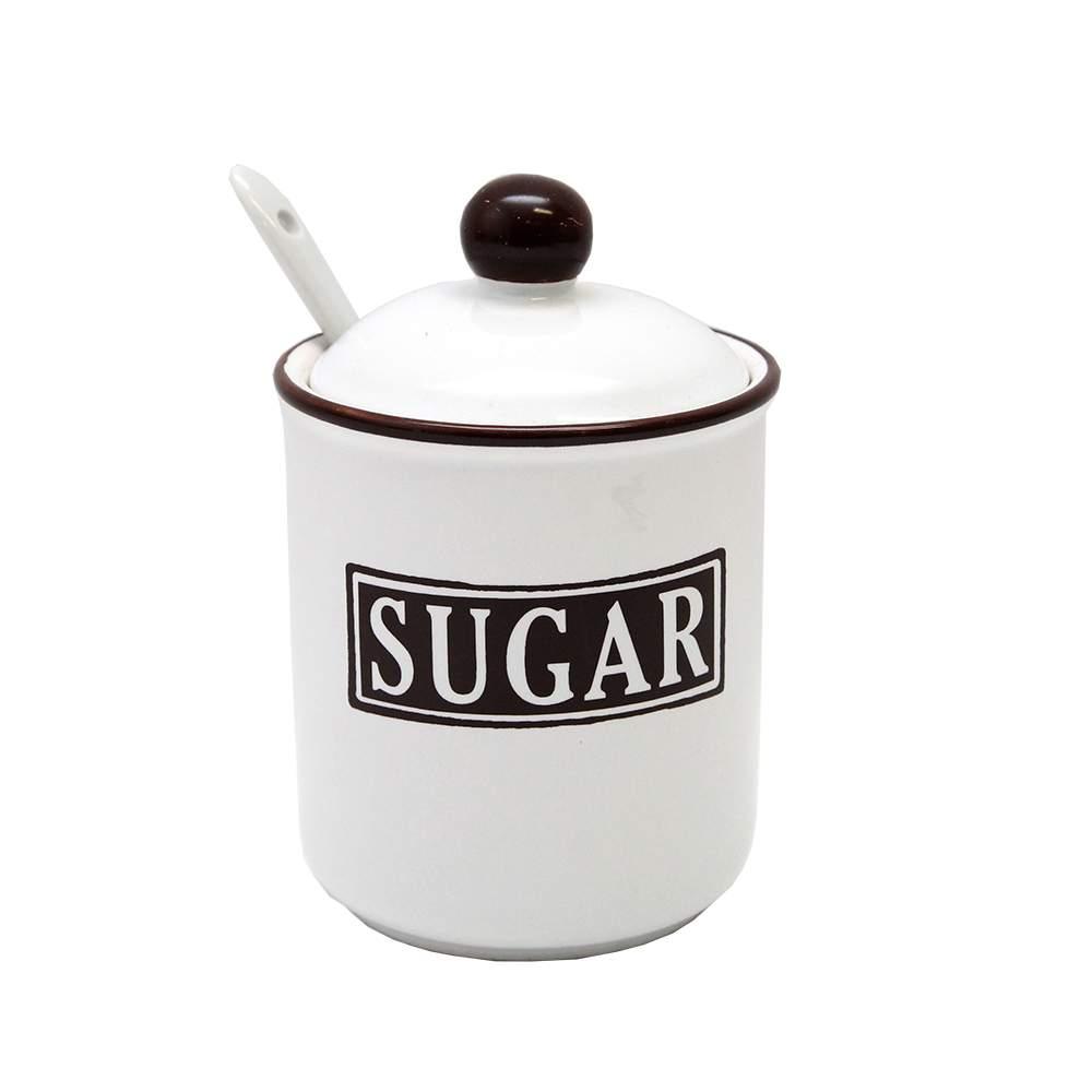 Recipient Zahăr Din Ceramică Albă