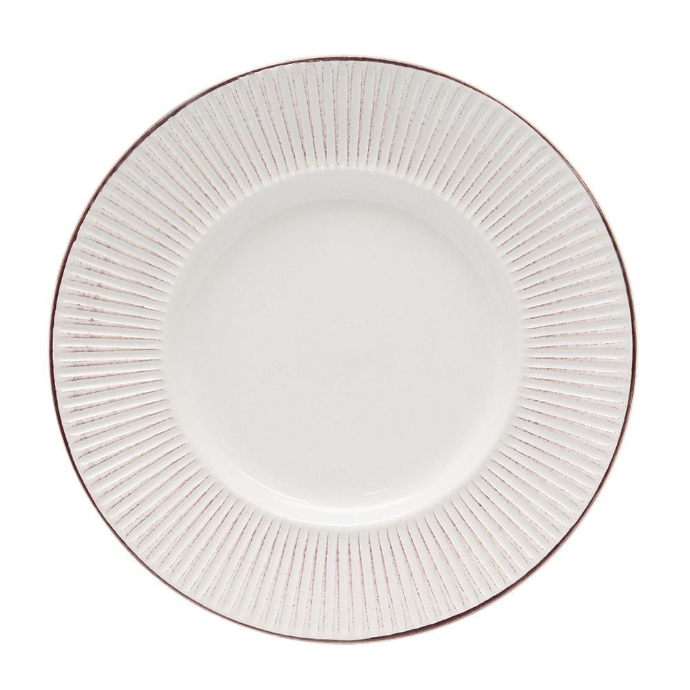 Farfurie Pentru Desert Din Ceramica Crem 22.5 Cm