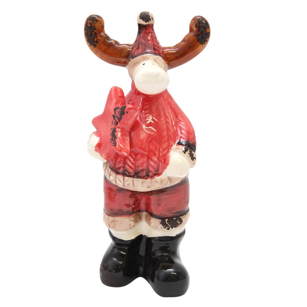 Decoratiune Ren Din Ceramica 15 Cm