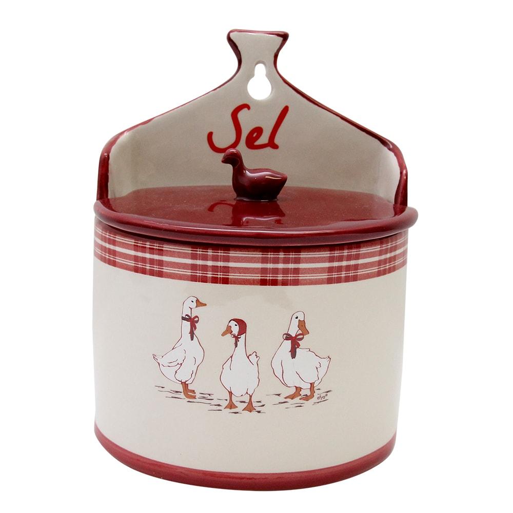 Solnita De Perete Din Ceramica Crem Si Rosu Cu Gas