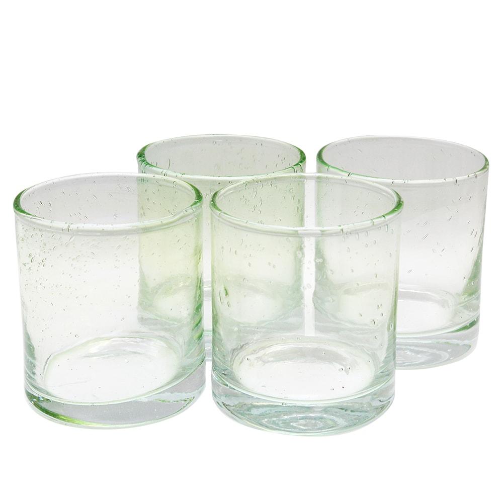Set Cu Patru Pahare Berjerac Din Sticla Verde