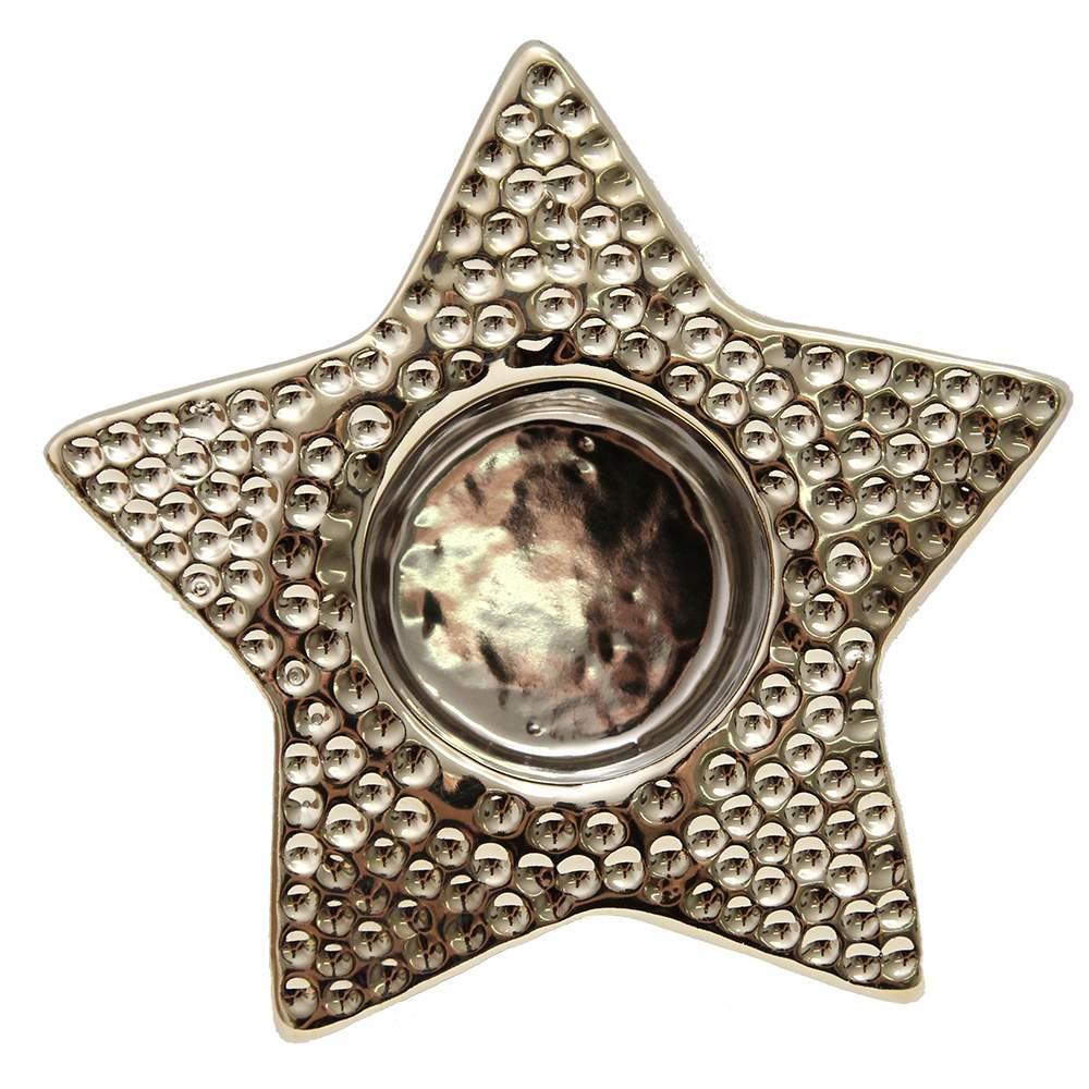 Candela Stea Din Ceramica Aurie 12x4.5 Cm