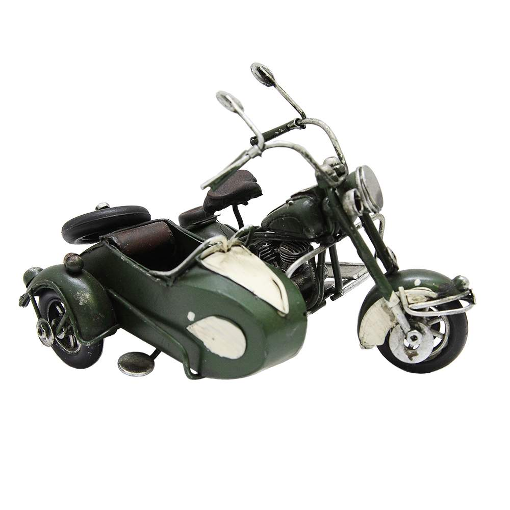 Macheta Motocicleta Din Metal Verde