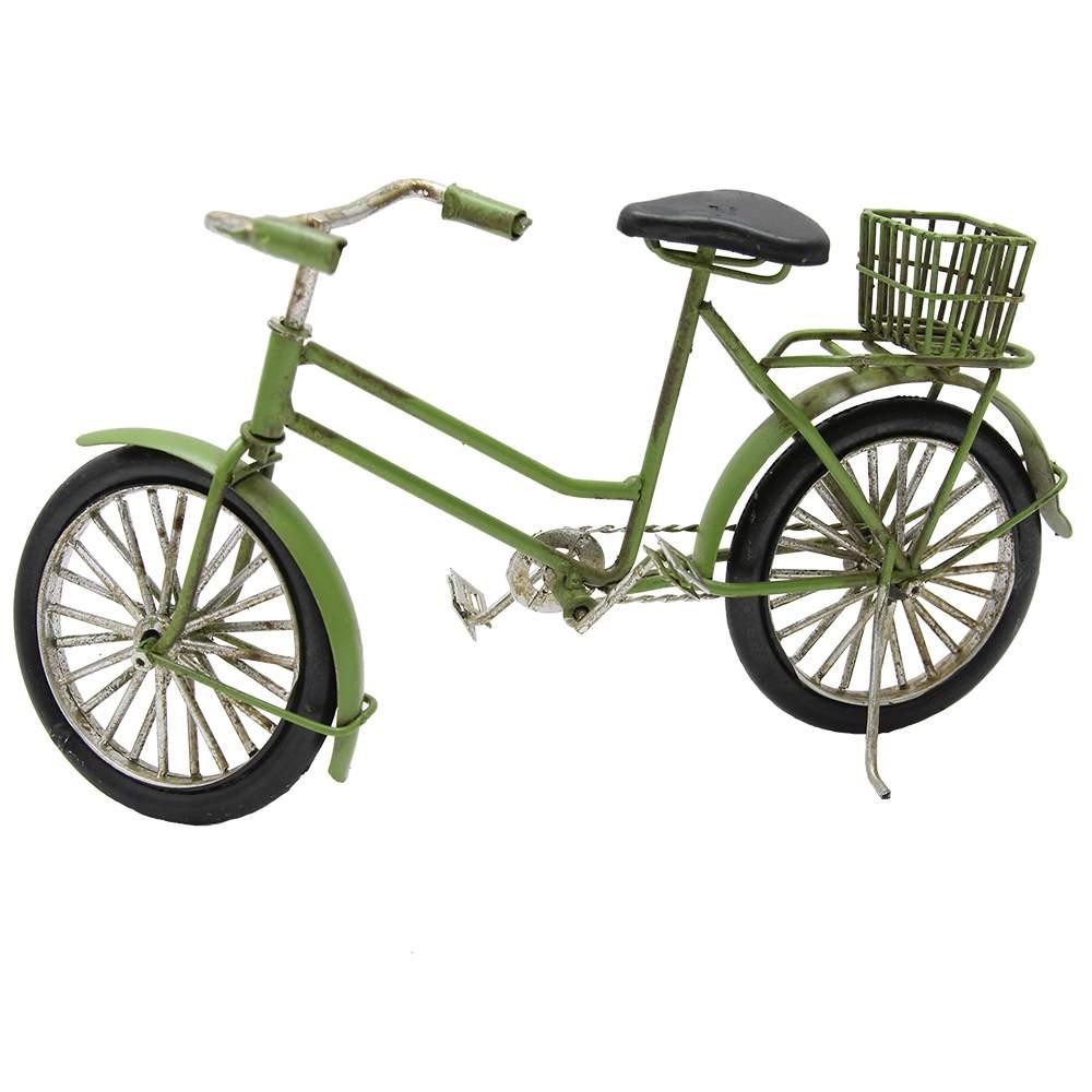 Macheta Bicicleta Din Metal Verde 24x12 Cm