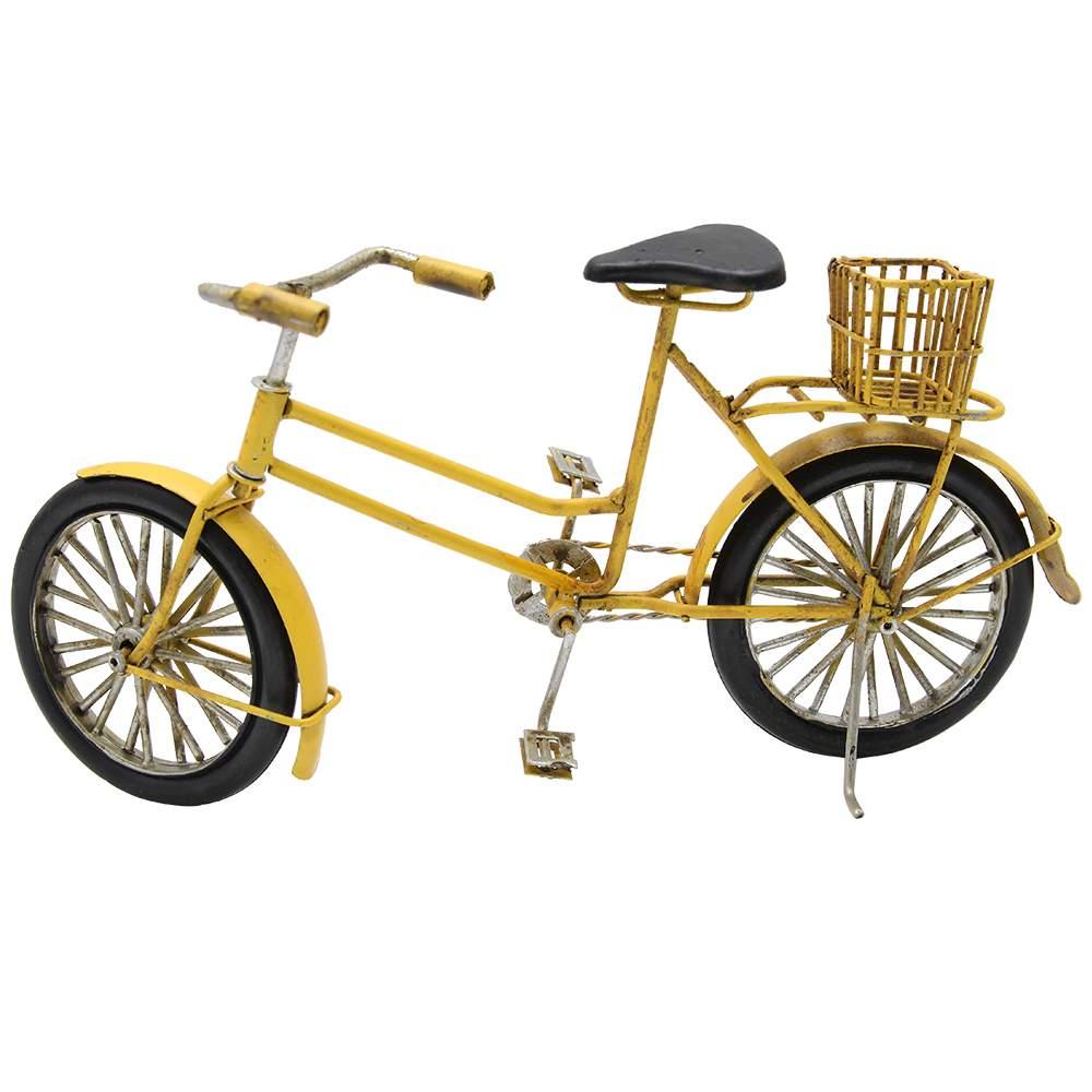 Macheta Bicicleta Din Metal Galben 24x12 Cm