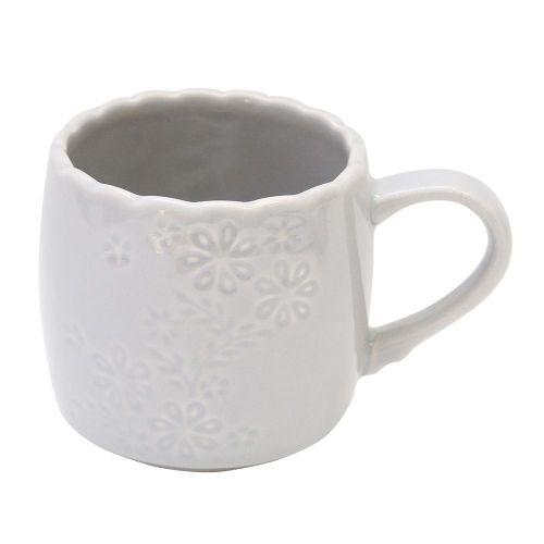 Cana Lady Gray Din Ceramica Gri 8 Cm