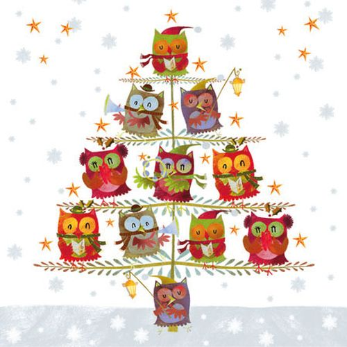Servetele Winter Owls 25 Cm