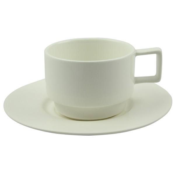 Pachet Cadou 2 Cani De Cappuccino Din Ceramica Alba