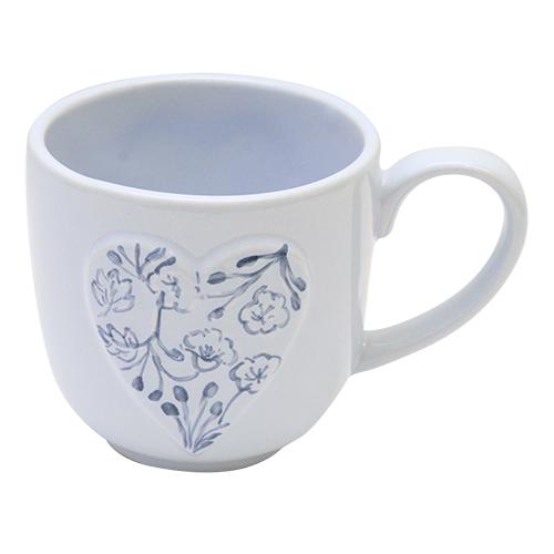 Cana Blue Flowers Din Ceramica Albastra 10 Cm