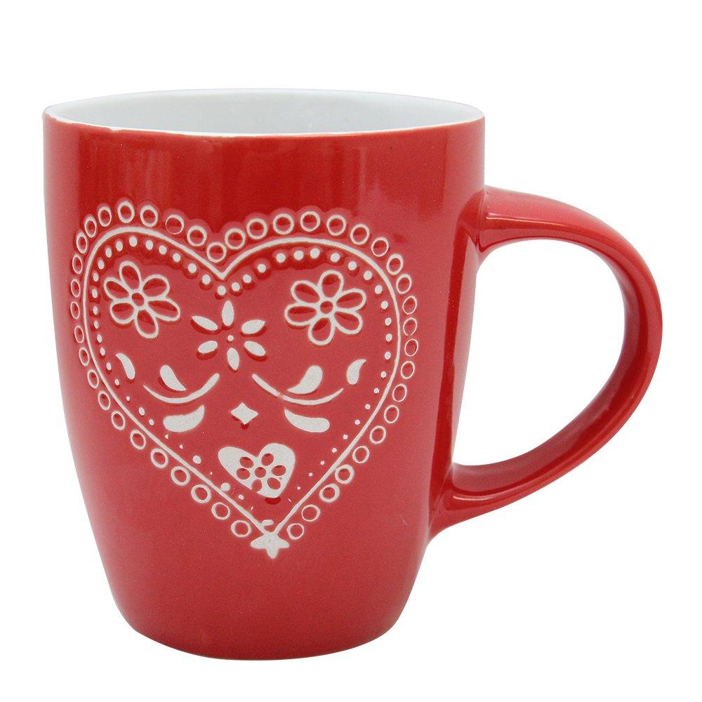Cana Din Ceramica Rosie Diametru 8 Cm