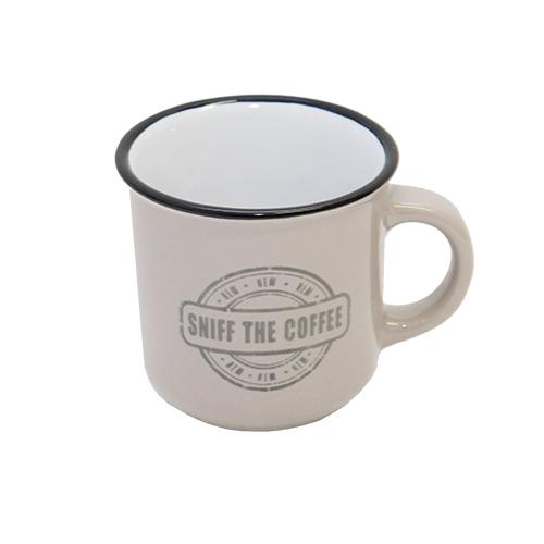 Cana Coffee Din Ceramica Gri 6.5 Cm
