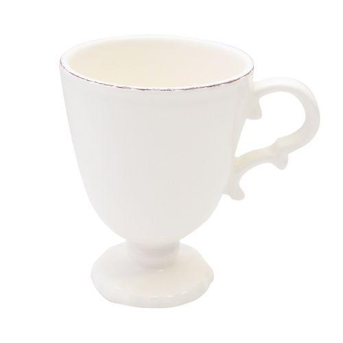 Cana Cu Picior Royal Ivory Din Ceramica 12 Cm