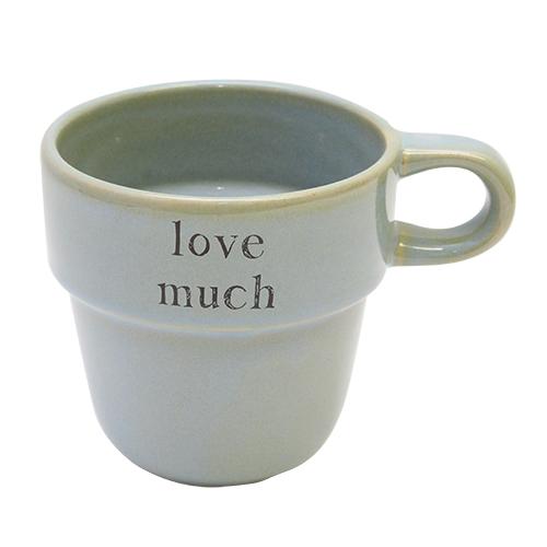 Cana Love Much Din Ceramica Verde 10 Cm
