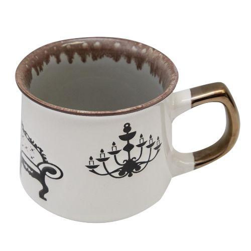 Cana Vintage Din Ceramica Gri 10cm