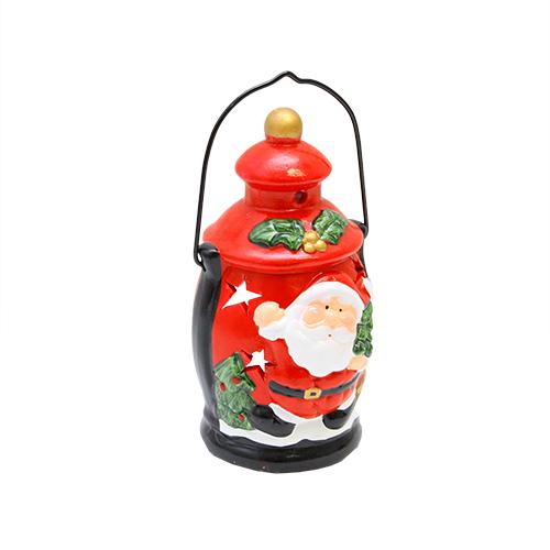 Candela Santa Din Ceramica Rosie 9x16 Cm